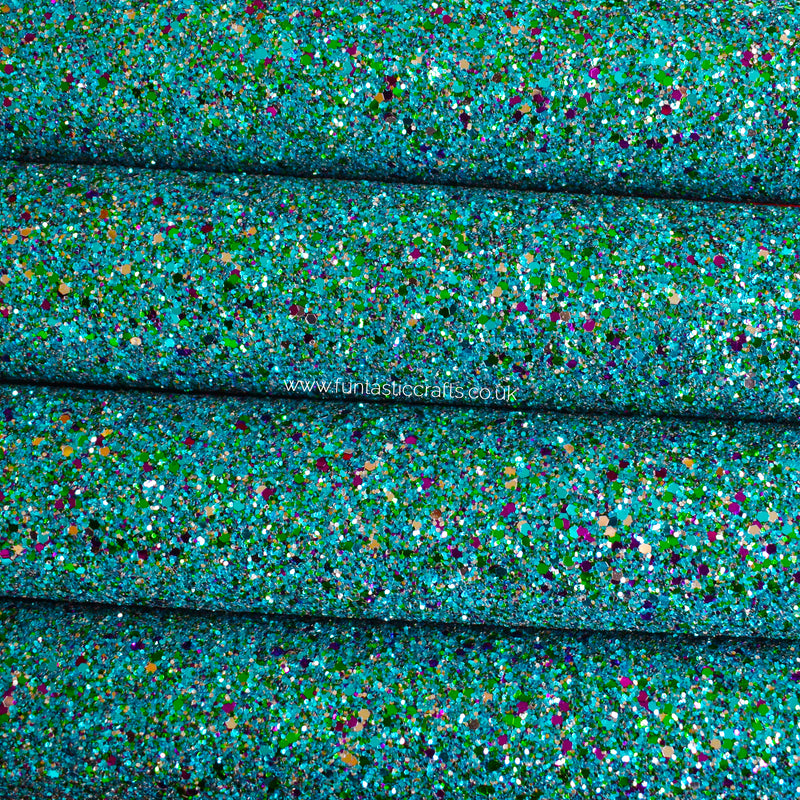 Deep End Chunky Glitter Fabric
