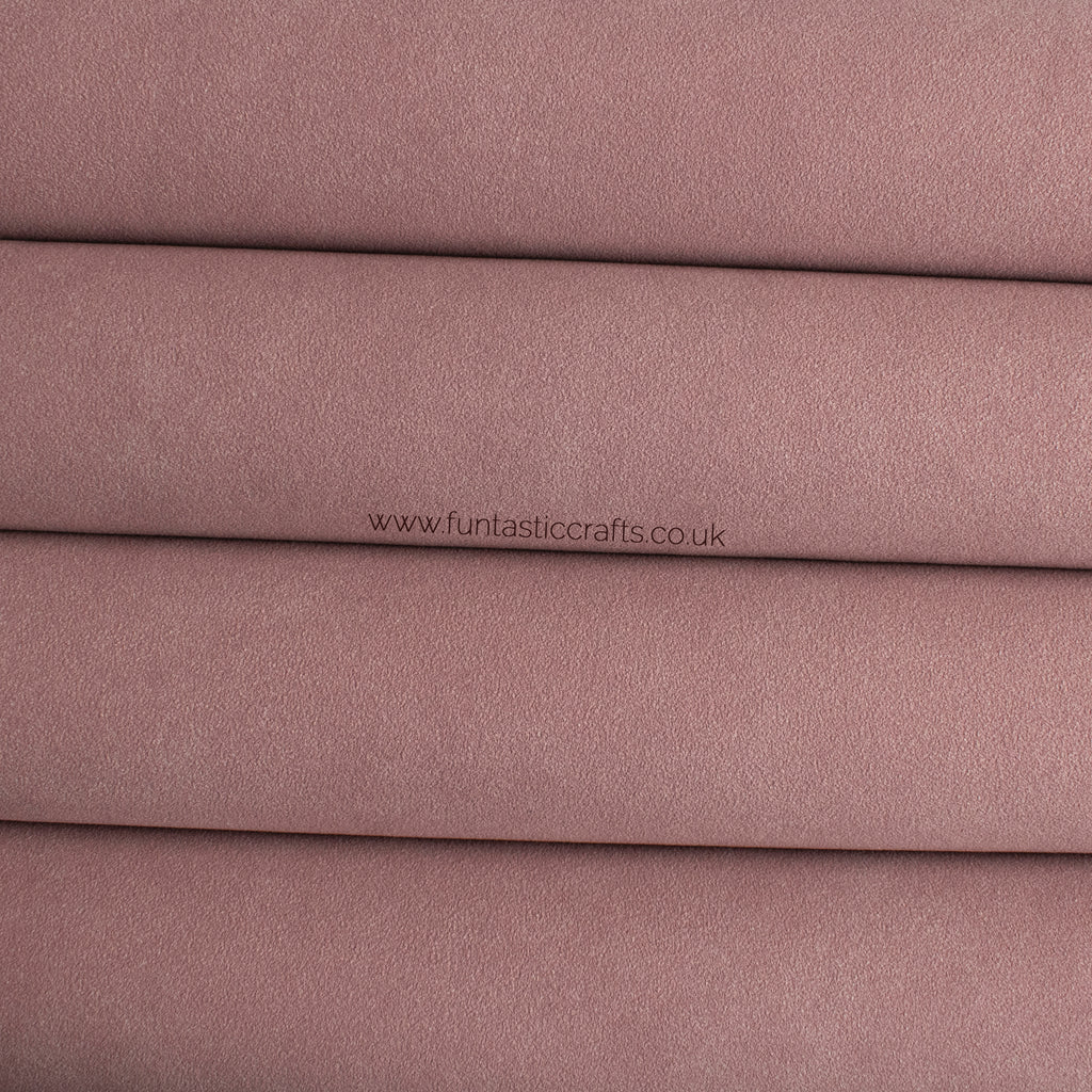 Dusty Rose Faux Suede Fabric