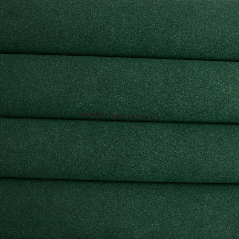 Hunter Green Faux Suede Fabric