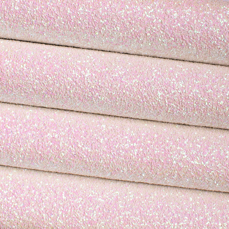 French Meringue Chunky Glitter Fabric
