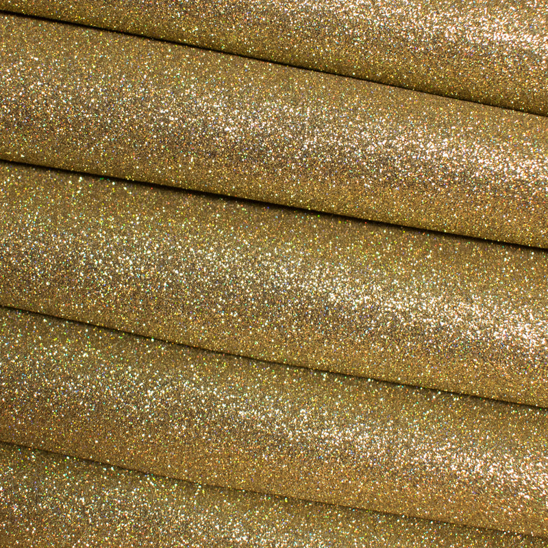 Holographic Gold Fine Glitter Fabric