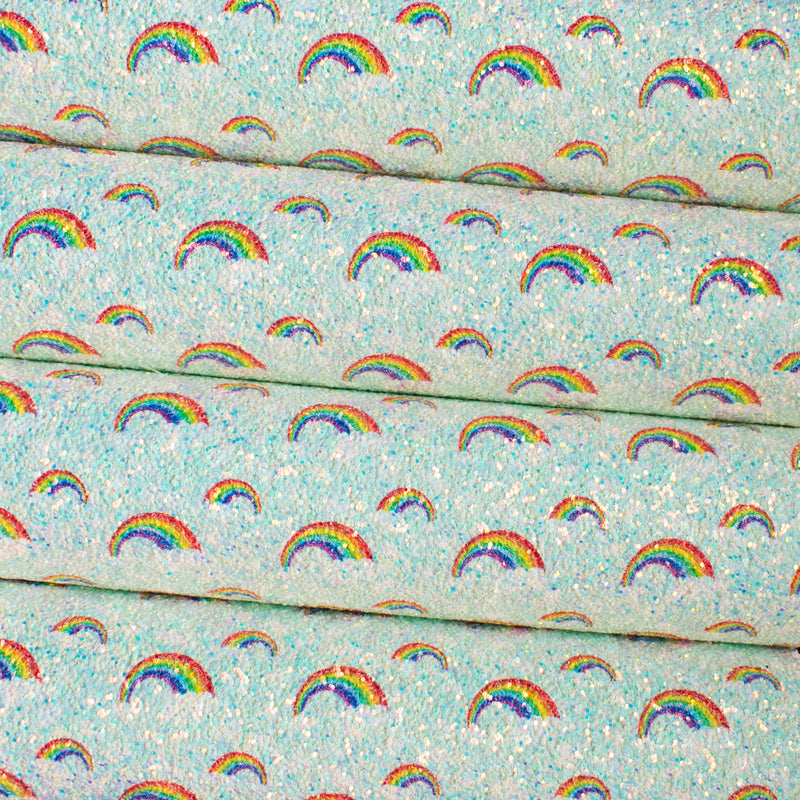 Mint - Over the Rainbow Chunky Glitter Fabric