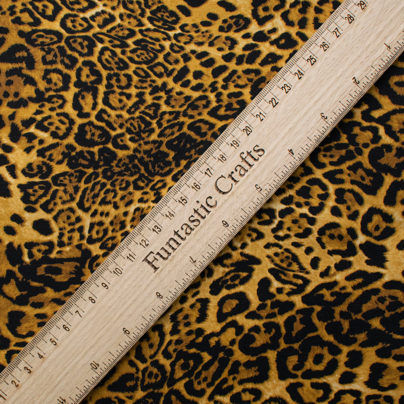 Leopard - 100% Cotton Fabric by Rose and Hubble