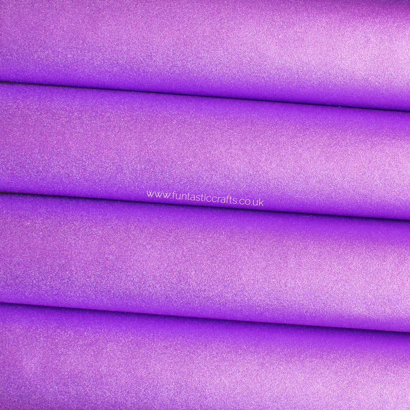 Smooth Frosted Shimmer Leatherette - Lilac Shimmer