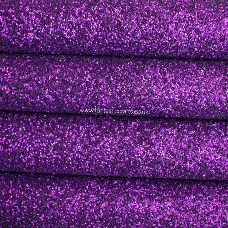 Matte Purple Chunky Glitter Fabric