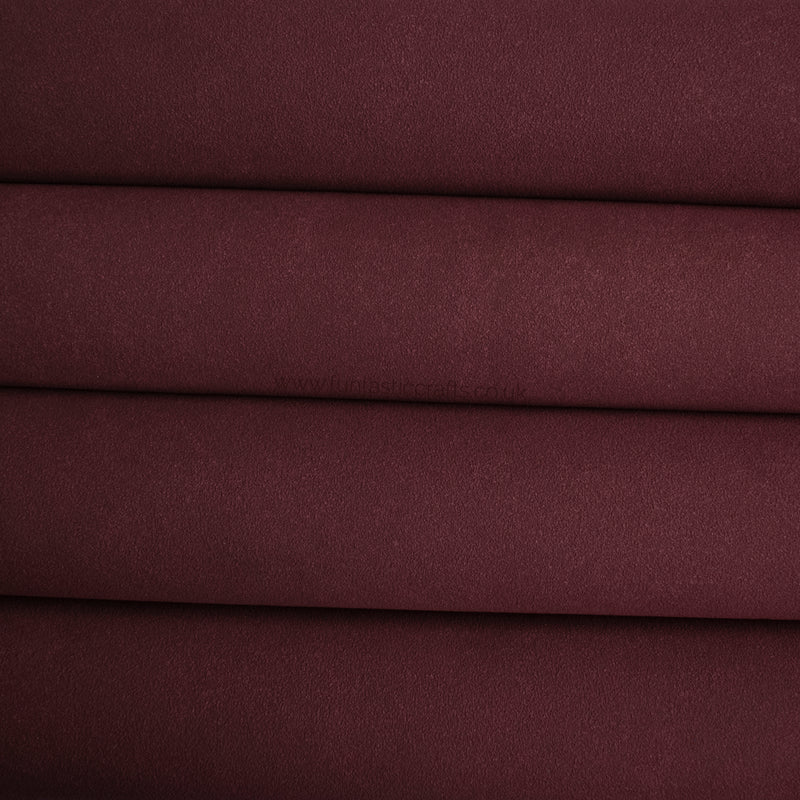 Mulberry Faux Suede Fabric
