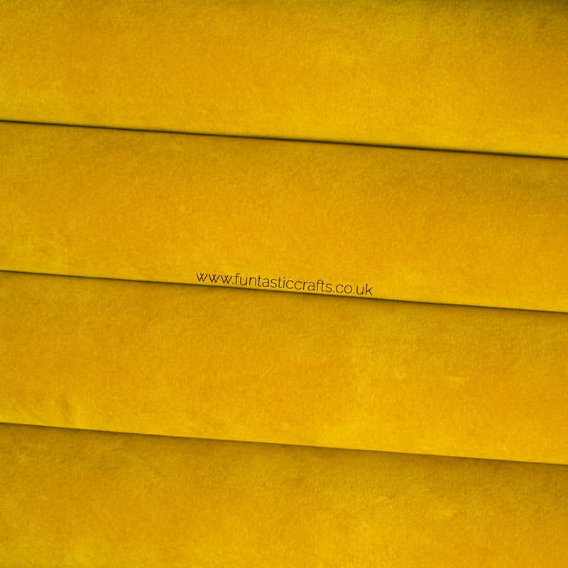 Mustard Velvet Faux Leather Fabric