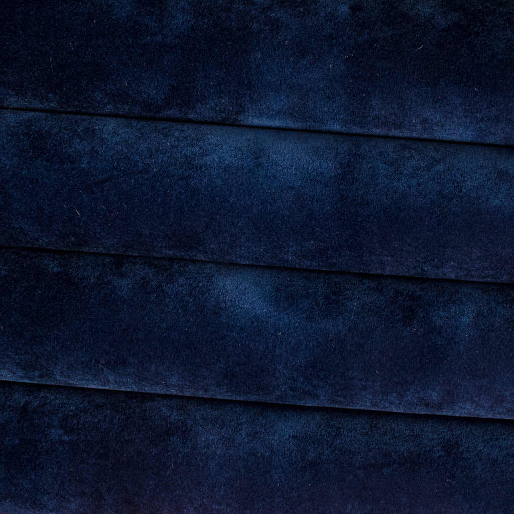 Navy Blue Velvet Faux Leather Fabric **WRITING ON THE BACK**