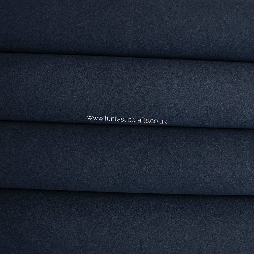 Navy Blue Faux Suede Fabric