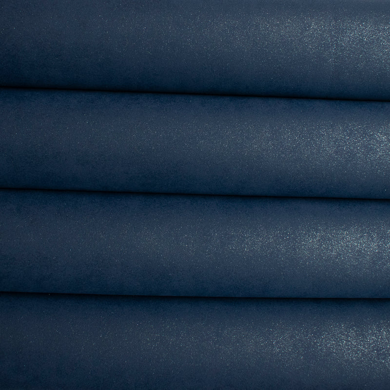 New Glitter Faux Suede Fabric - Navy Blue