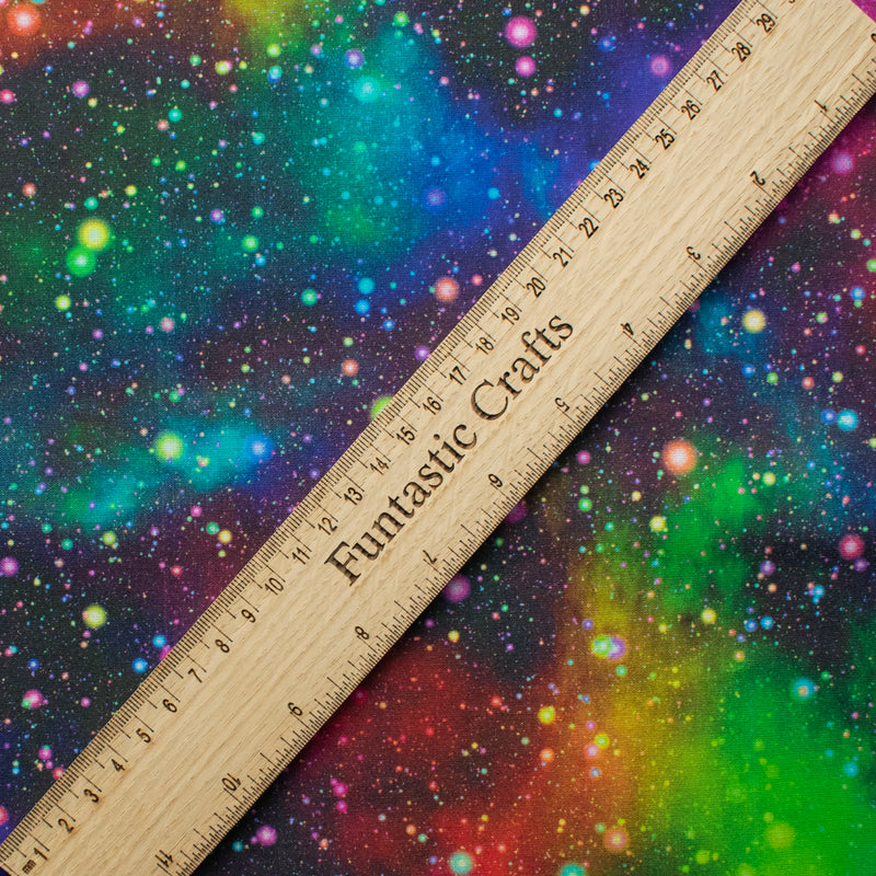 Rainbow Speckled Galaxy 100% Cotton Fabric