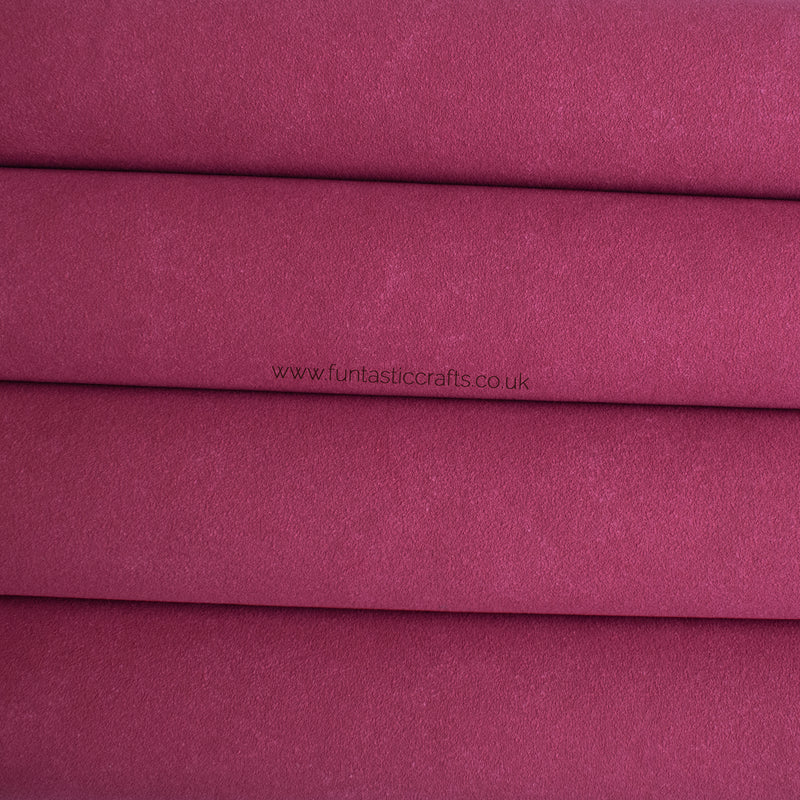 Raspberry Rose Faux Suede Fabric