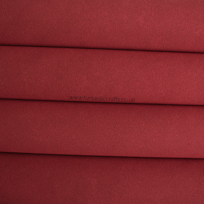 Red Faux Suede Fabric