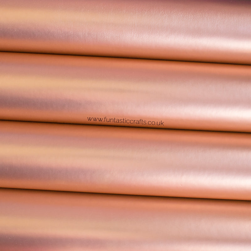 Smooth Metallic Leatherette Fabric - Rose Gold