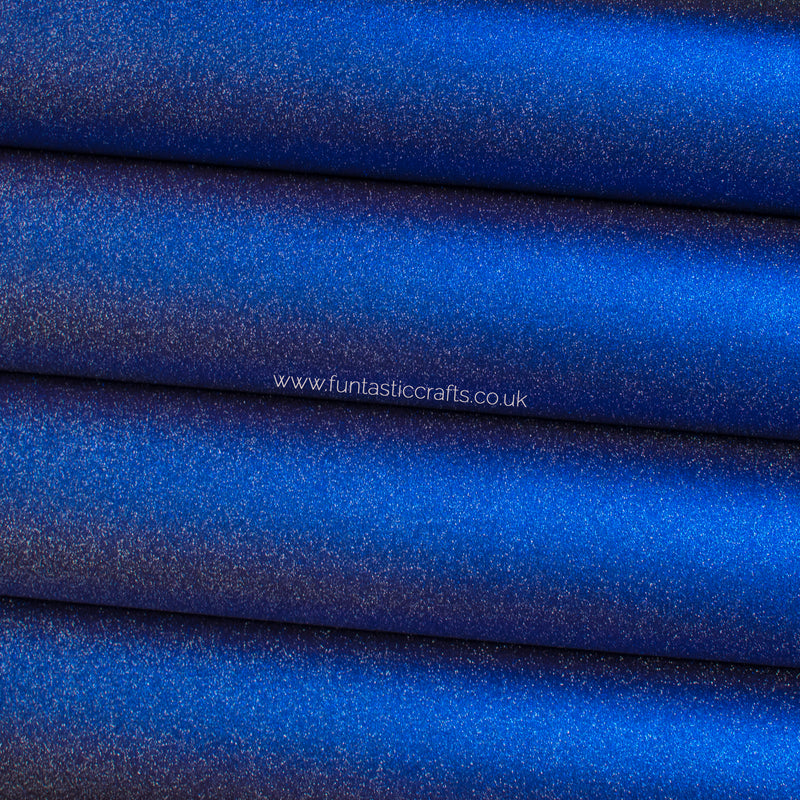 Smooth Frosted Shimmer Leatherette - Royal Blue Shimmer