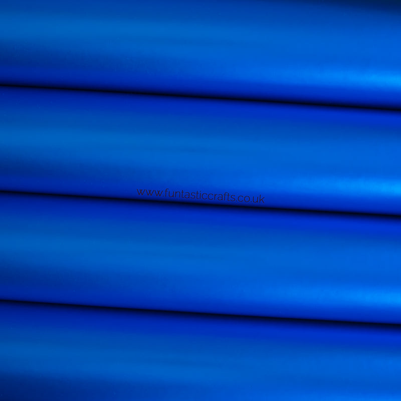 Smooth Metallic Leatherette Fabric - Royal Blue