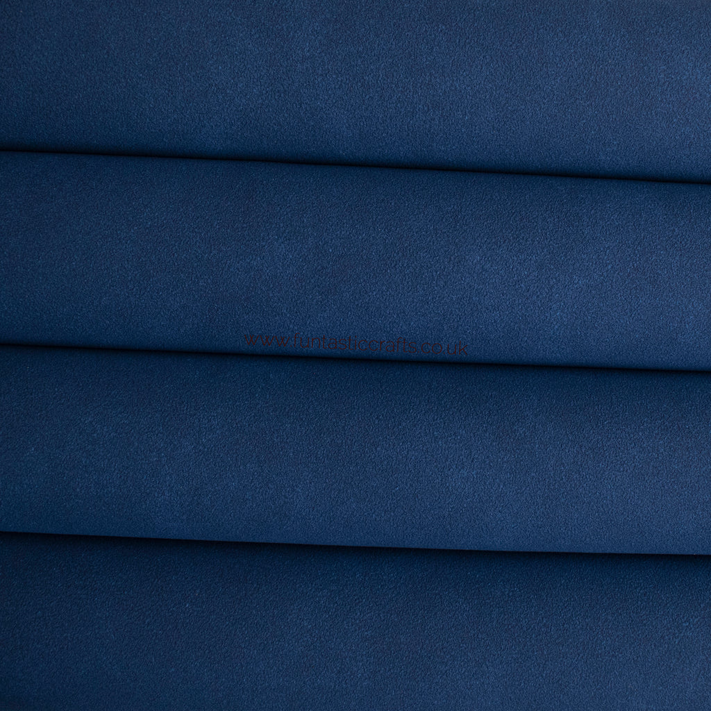Royal Blue Faux Suede Fabric