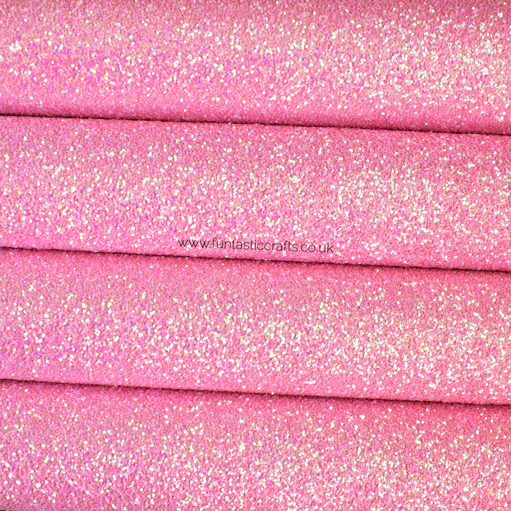 Tickled Pink Chunky Glitter Fabric