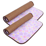 Dual Purpose Dog Mats Bamboo Cooling Mat For Dogs Cat Footprint Summer Dog Puppy Cooling Bed Cushion Pet Products L/XL