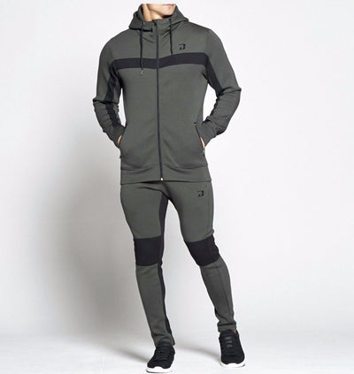 Dabs Mens Challenger Tracksuit- Army Green - dabs-fitness