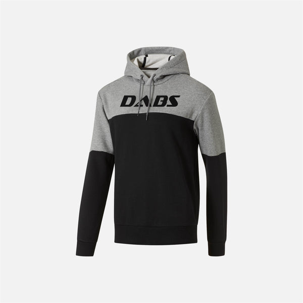 Dabs Mens Rebel Hood- Black/Heather Grey