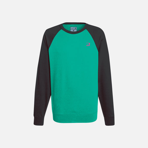 Dabs Ladies Active Sweatshirt-Aqua Green/Black - dabs-fitness