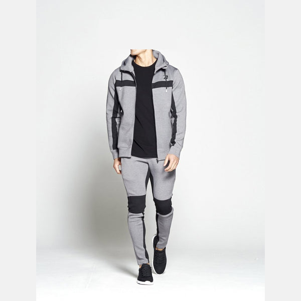 Dabs Mens Challenger Tracksuit- Heather Grey - dabs-fitness