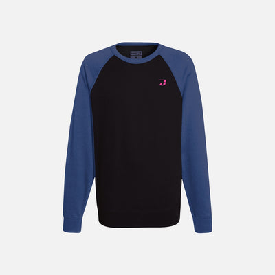 Dabs Ladies Active Sweatshirt-Black/Navy - dabs-fitness