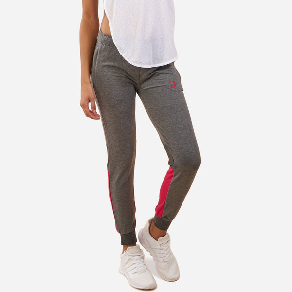 Dabs Ladies Jogger pants- Charcoal/Pink - dabs-fitness