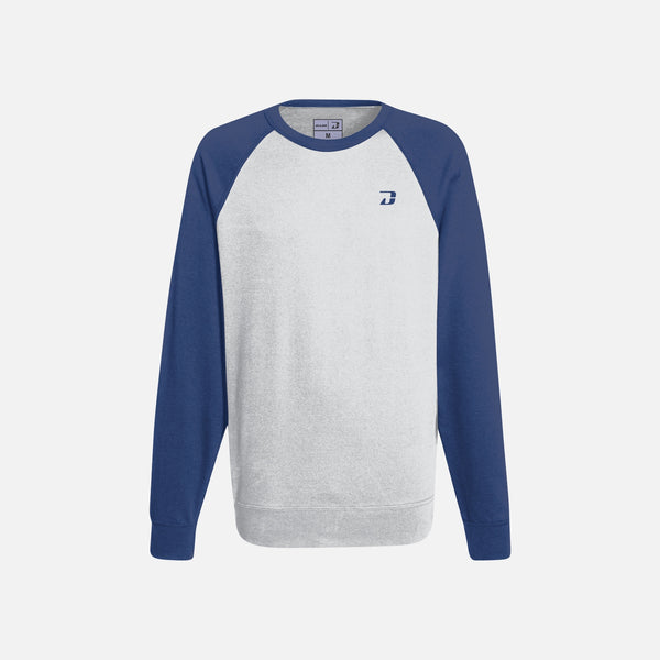 Dabs Ladies Active Sweatshirt-Heather Grey/Blue