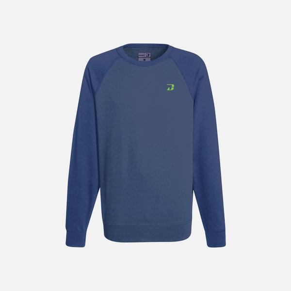 Dabs Ladies Active Sweatshirt-Blue Marl/Navy