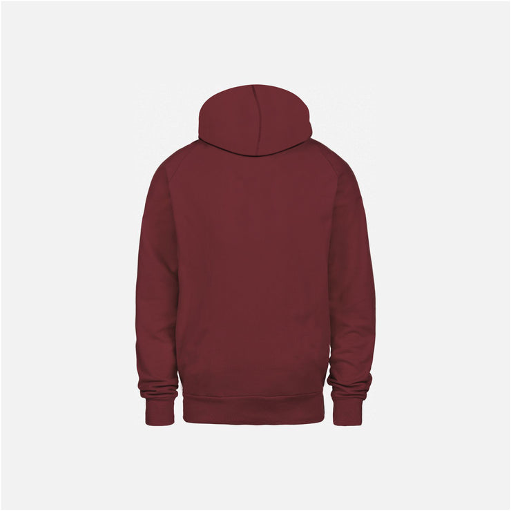 Dabs Mens Pullover Hood- Burgundy - dabs-fitness