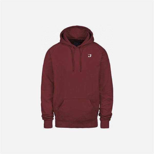 Dabs Mens Pullover Hood- Burgundy - DABS® Fitness Wear