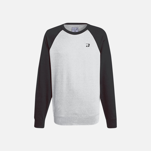 Dabs Ladies Active Sweatshirt-Heather Grey/Black
