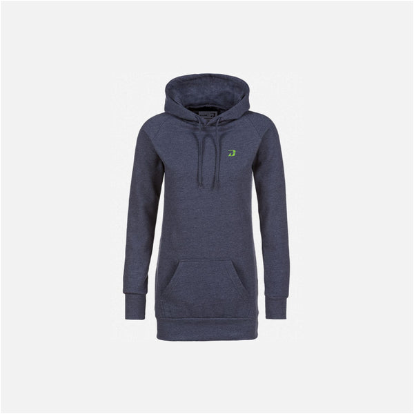 Dabs Ladies Pullover Hood-Blue Marl
