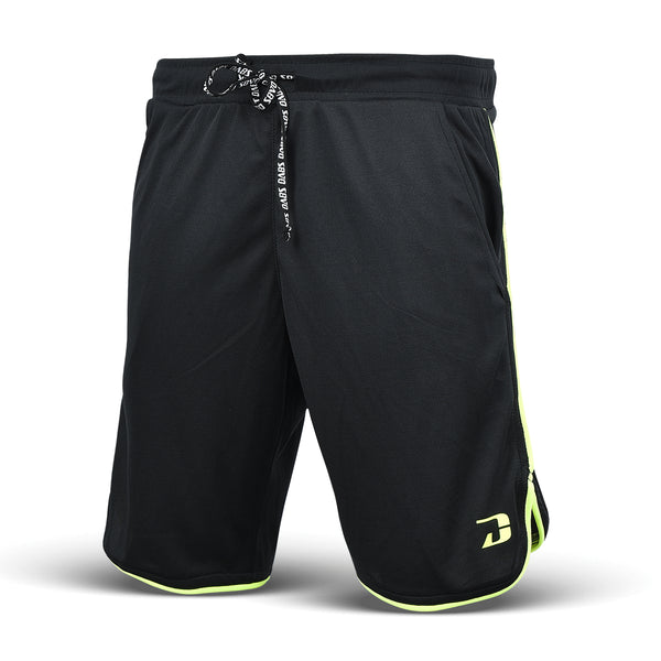 Dabs Racer Shorts- Black/Neo Yellow