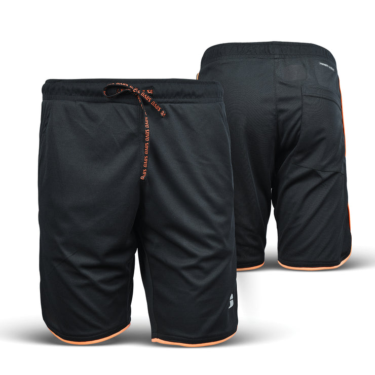Dabs Racer Shorts- Black/Orange Neo