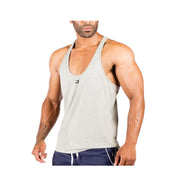 Dabs Men's Work Tank-Heather Grey - dabs-fitness
