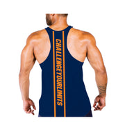 Dabs Mens Work Tank-Navy - dabs-fitness