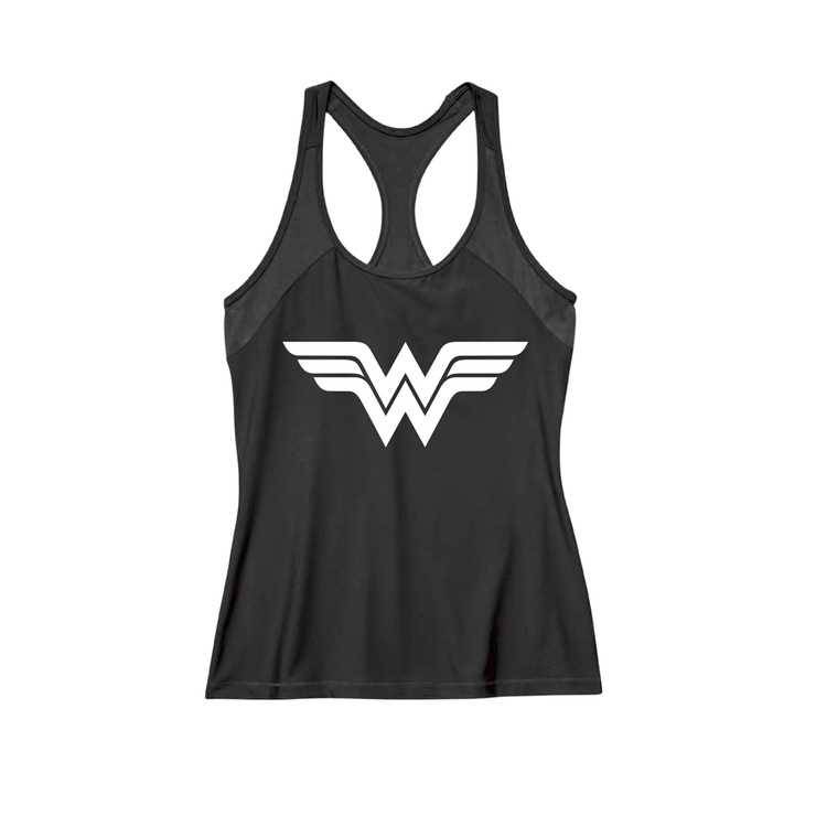 Dabs Ladies Wonder Woman Work Tank- Black - dabs-fitness