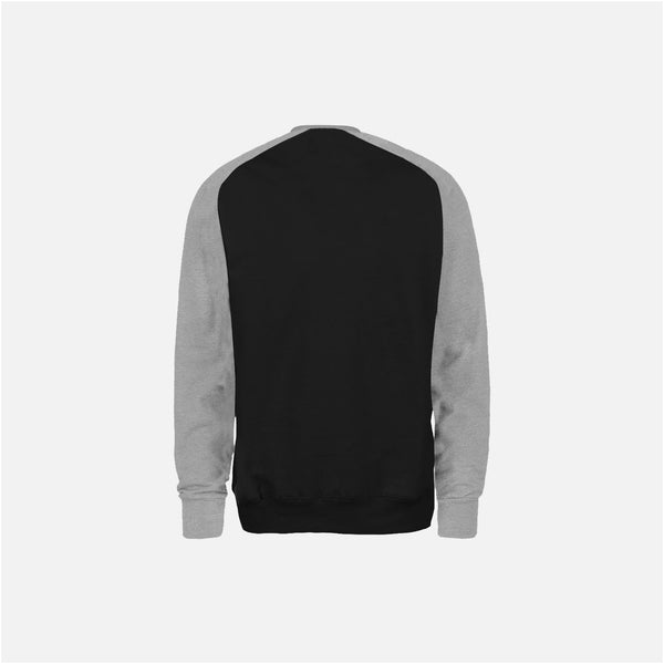 Dabs Mens Active Sweatshirt-Black/Heather Grey