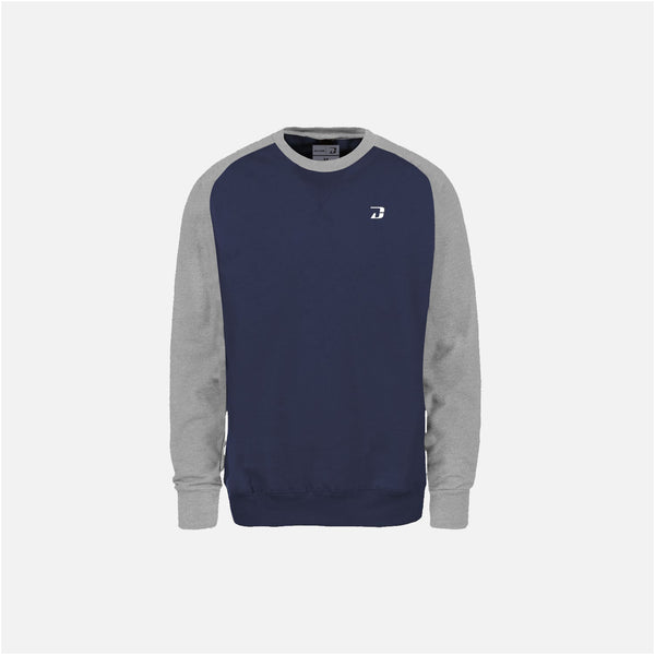 Dabs Mens Active Sweatshirt-Navy/Heather Grey - dabs-fitness