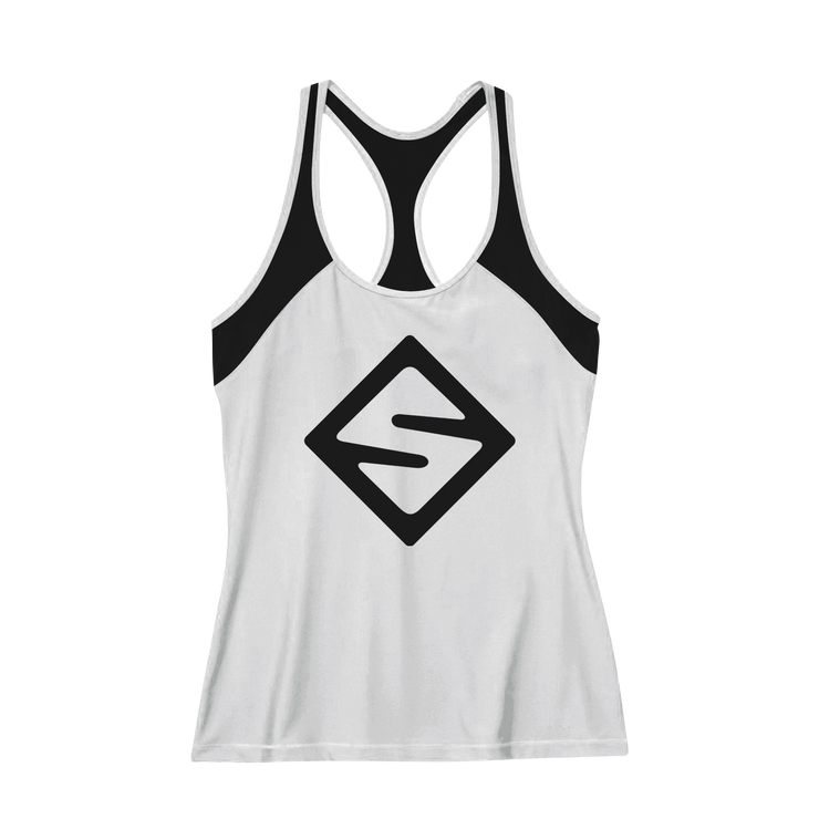 Dabs Ladies Super Girl Work Tank- Heather Grey - dabs-fitness