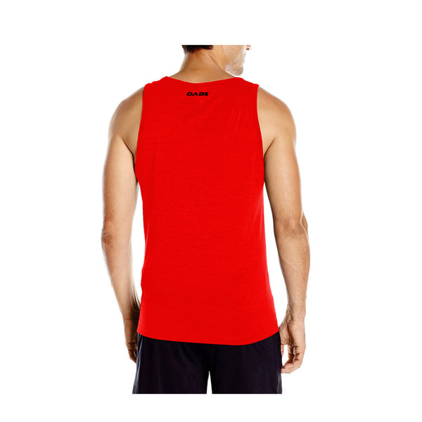 Dabs Men's You Can Tank Top-Red - DABS® Fitness Wear