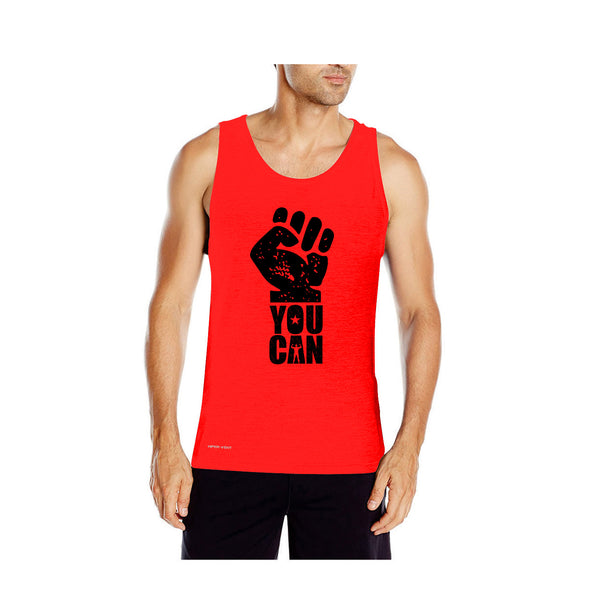 Dabs Men's You Can Tank Top-Red - dabs-fitness