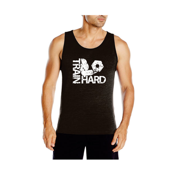 DABS MENS TRAIN HARD TANK TOP- CHARCOAL