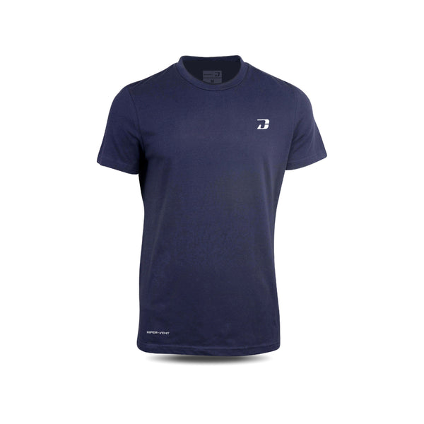 Dabs Mens Hiper-vent Shirt-Navy - dabs-fitness