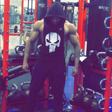 The Punisher Hooded Tank Top-Black - dabs-fitness