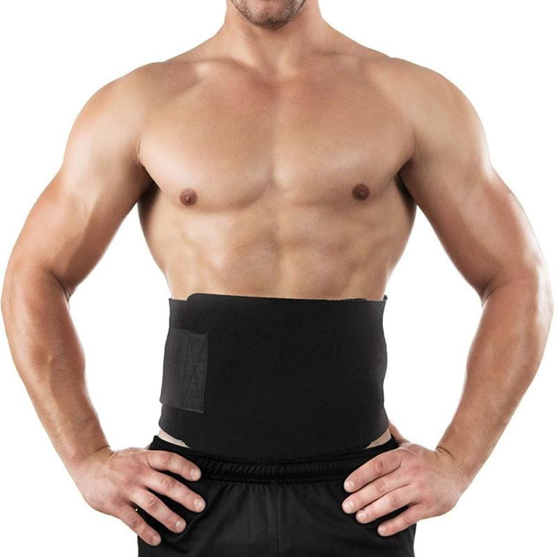 Waist Trimmer Belt- Sweat Band Wrap Fat Burner Tummy Stomach Sauna