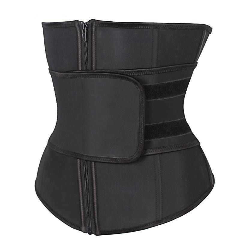 Double Control Waist Trainer Corset Body Shaper Tummy Fat Burning for Hourglass - Absolute BLESSINGS